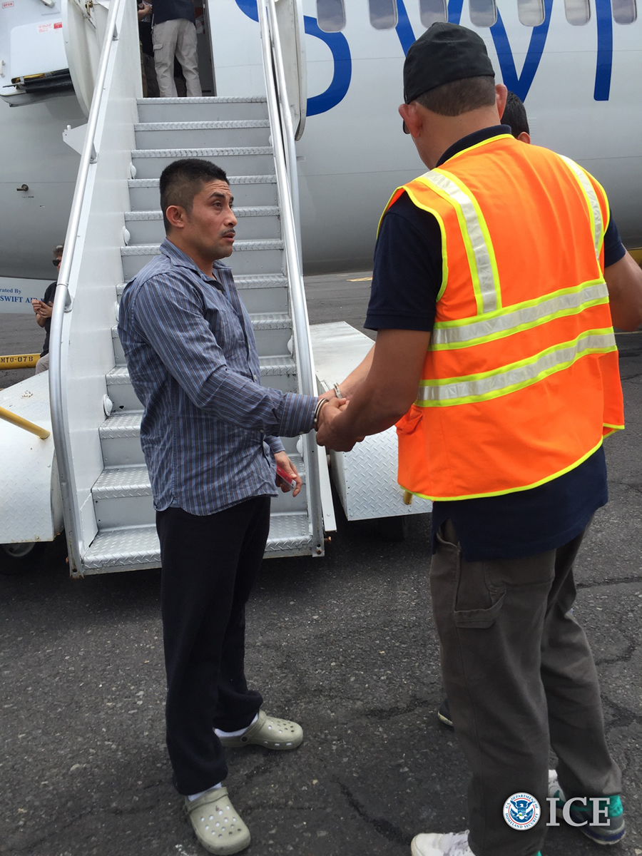 Carlos Raul Garcia-Cantarero, 35, entered ICE custody June 7 after serving eight months in federal prison for illegally re-entering the United States after being previously deported - Deported September 2017