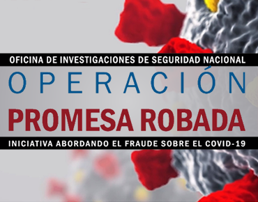 Oficina de Investigaciones de Seguridad Nacional del Servicio de Inmigración y Control de Aduanas de EE. UU. - Operación Promesa Robada
