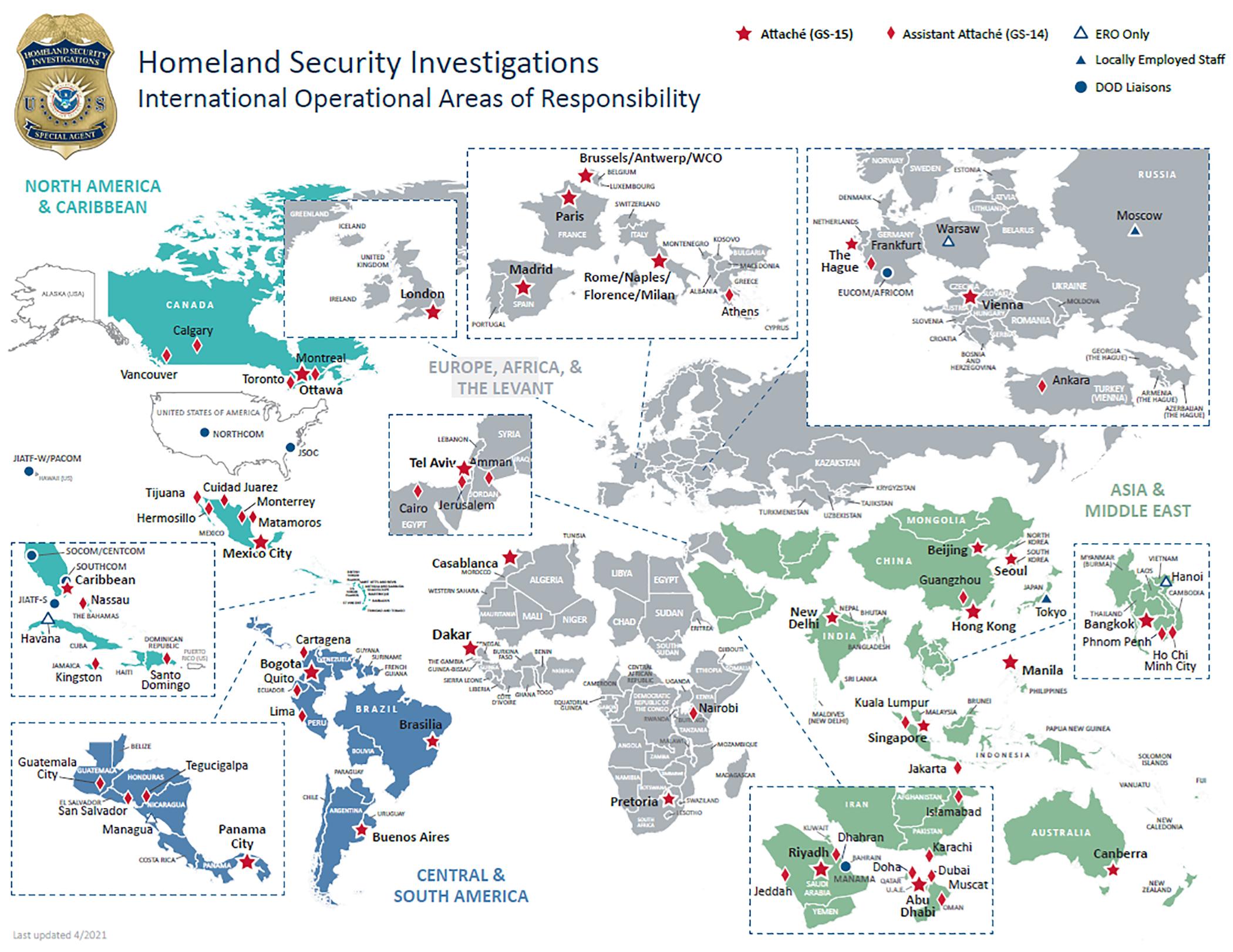 HSI International Footprint map