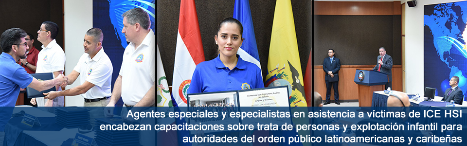 Agentes especiales y especialistas en asistencia a víctimas de ICE HSI encabezan capacitaciones sobre trata de personas y explotación infantil para autoridades del orden público latinoamericanas y caribeñas