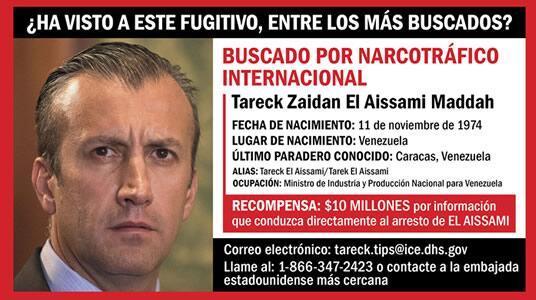 15 actuales, antiguos funcionarios venezolanos acusados de narcoterrorismo, corrupción, narcotráfico y otros cargos penales