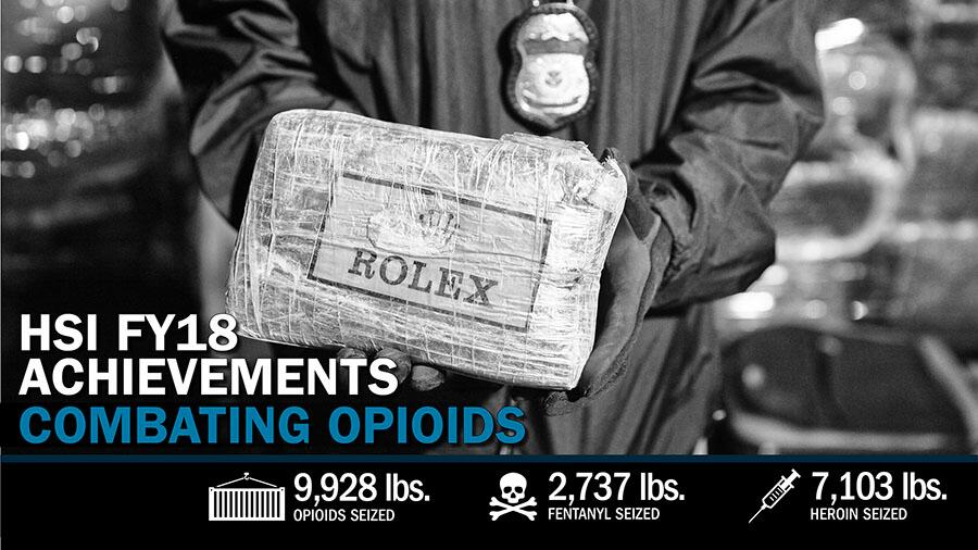 HSI FY18 Achievements: Opioids