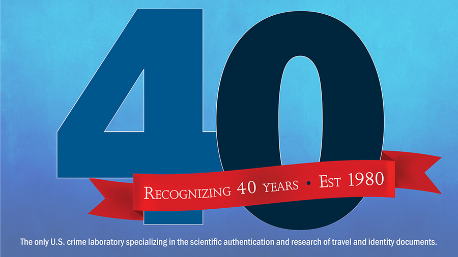 The HSI Forensic Laboratory Celebrates 40 Years!