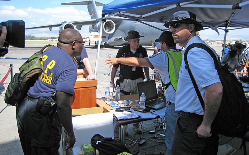 ICE officials contribute to the Haiti relief effort after a devastating earthquake.