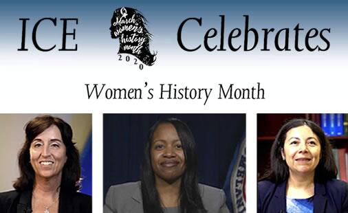 ICE Celebrated Women's History Month