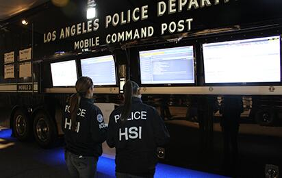 Los Angeles Police Department mobile command post