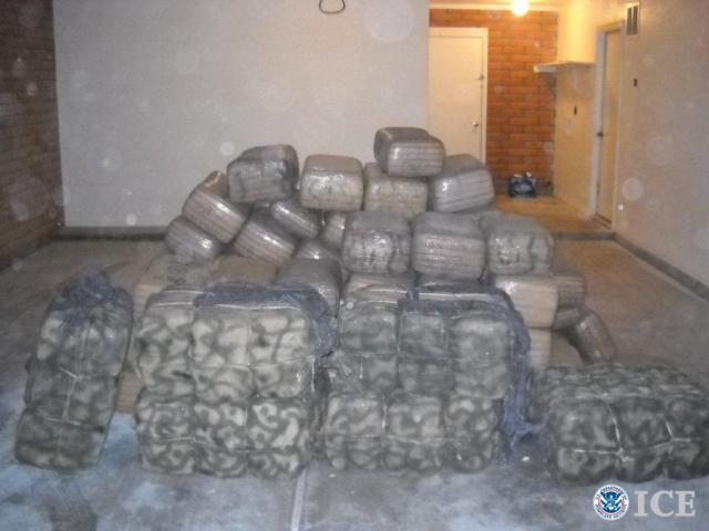 authorities seize nearly a ton of marijuana in southern