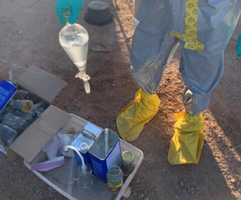 Arizona multi-agency task force discover meth lab in firefighter residence