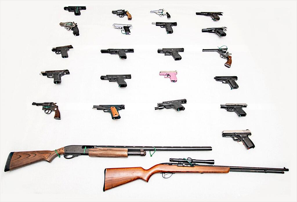 More than 70 firearms seized