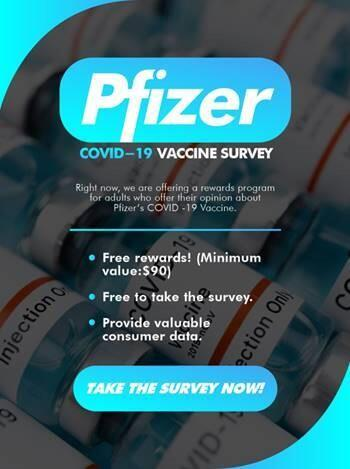Pfizer post-vaccine survey scam