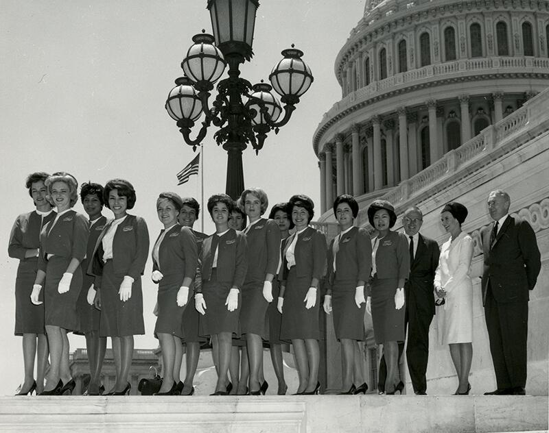 Port receptionists pose in front of the U.S. Capitol (picture provided by U.S. Citizenship and Immigration Services).