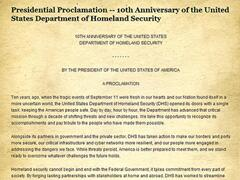 10th anniversary of U.S. Immigration and Customs Enforcement recognized by President Barack Obama