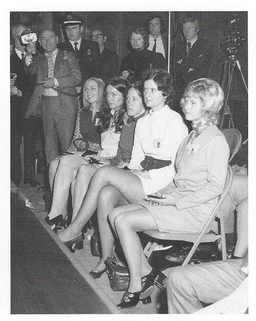 The first female customs special agents face the press after their swearing-in ceremony in 1971 (picture provided by U.S. Customs and Border Protection).