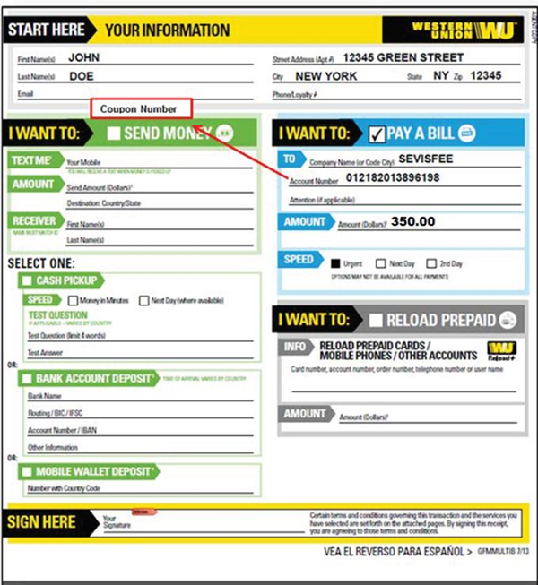 how to send wire money western union