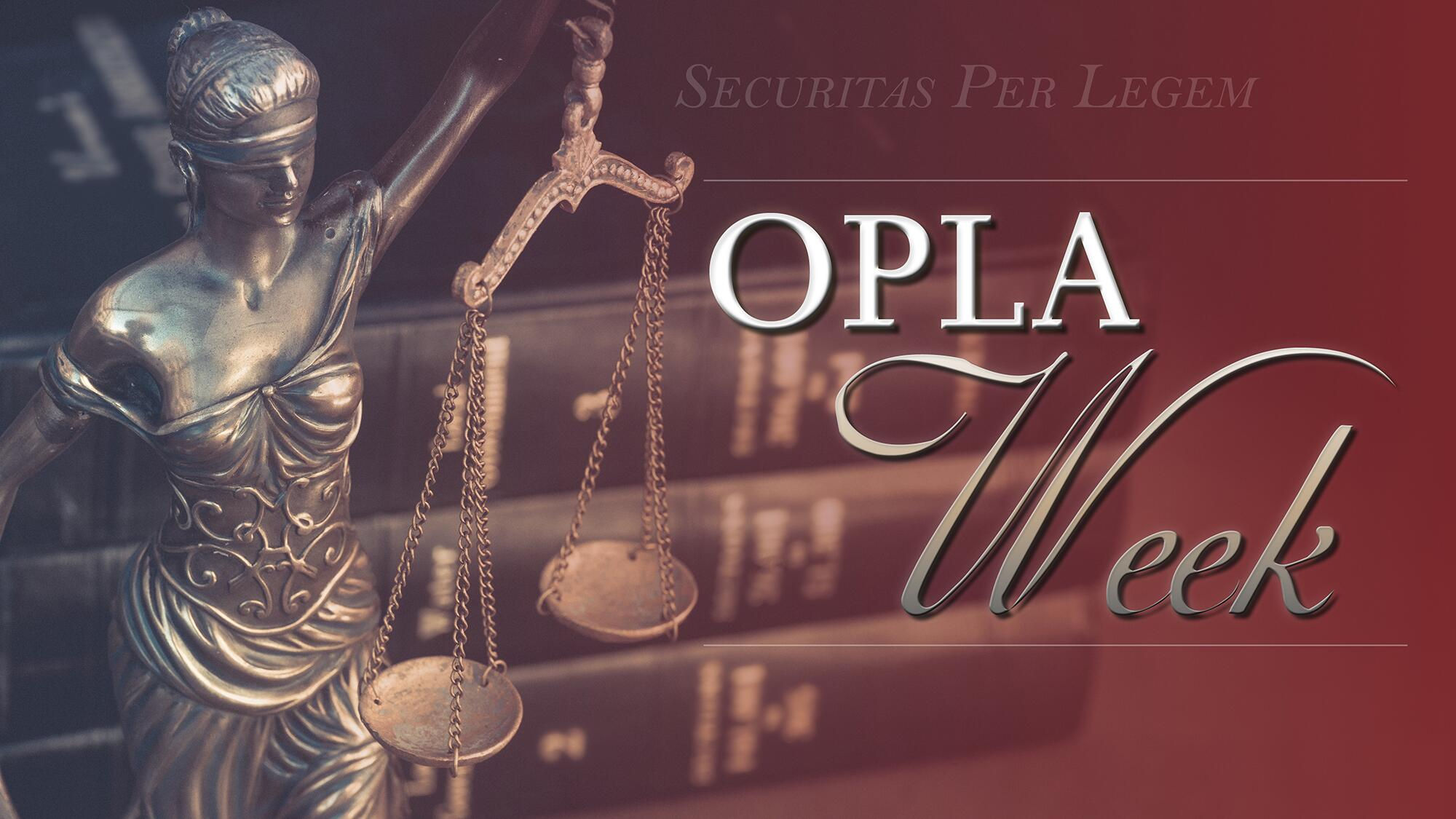 Office of the Principal Legal Advisor (OPLA) Week 2017