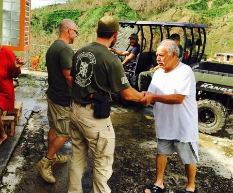HSI special agents from New Orleans' Special Response Team deliver food and water to Caonillas Aibonito, PR, a remote, mountainous community.