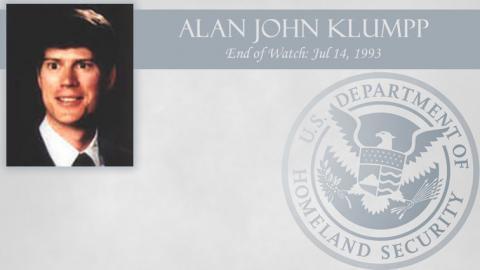 Alan John Klumpp: End of Watch Jul 14, 1993