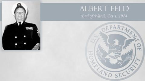 Albert Feld: End of Watch Oct 1, 1974