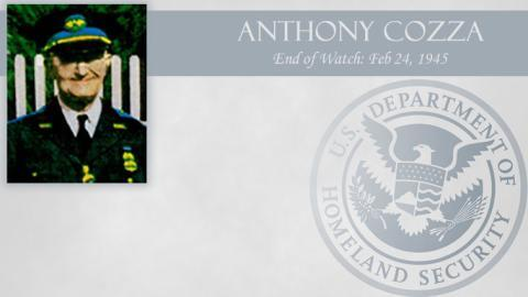 Anthony Cozza: End of Watch Feb 24, 1945