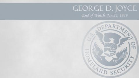 George D. Joyce: End of Watch Jan 24, 1949