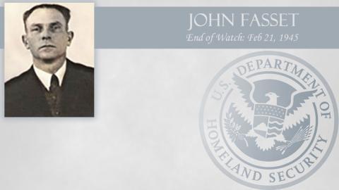 John Fasset: End of Watch Feb 21, 1945