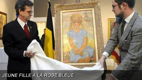 """""""Jeune Fille a la Robe Bleue"""" painting"""