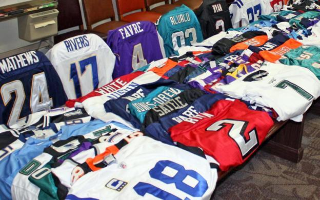 ICE seizes more than $40,000 worth of fake NFL apparel (pictured) at area swap meets