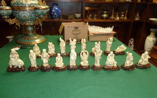 HSI special agents and other Houston law enforcement arrested a suspected art thief and recovered 18 Chinese ivory Buddhist Lohans from the Qing Dynasty valued at $30,000.