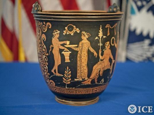 ICE returns stolen and looted art and antiquities to Italy