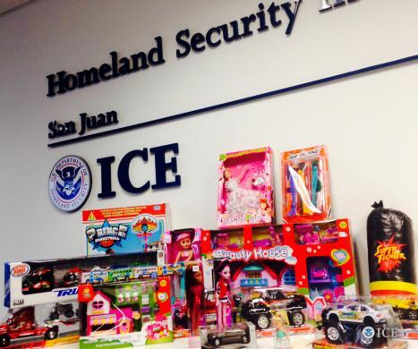 Counterfeit toys contaminated with lead paint were seized from a chain of pharmacies in San Juan Friday by HSI special agents.