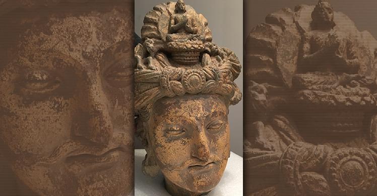2nd Century Bodhisattva schist head from the Gandhara region