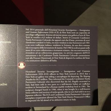 Uffizi Gallery - The Sleeping Ariande Narrative
