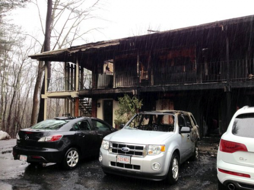 The aftermath of the January 10, 2016 Publick House Motel fire