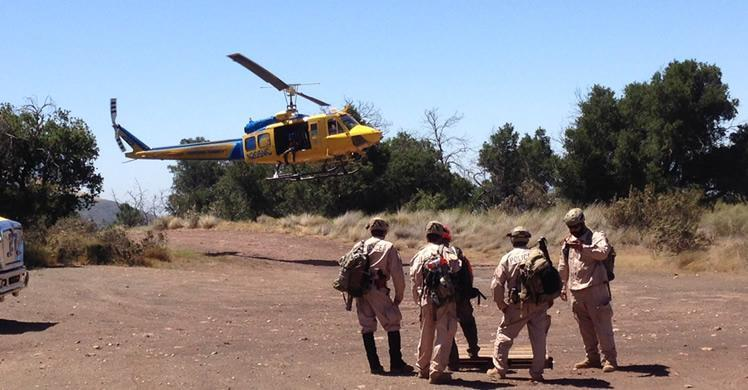 Search and rescue training, Mission Ventura County, California, 2014