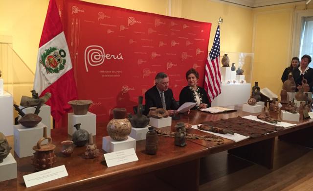 ICE returns cultural artifacts to Peru