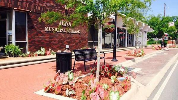 Downtown Jena, Louisiana, view of Jena Municipal Building
