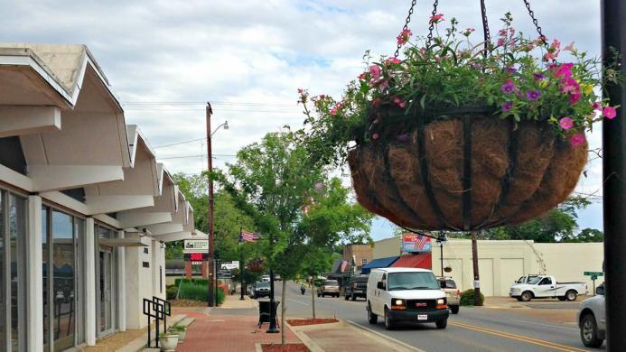 View of downtown Jena, Louisiana