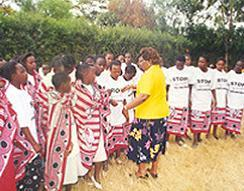 Girls in Kenya participating in an alternative to FGM/C  rites of passage ceremony. Since 2008, thousands of girls in Kenya have participated in the alternatives rites of passage program which includes teaching about the harmful effects of FGM/C.