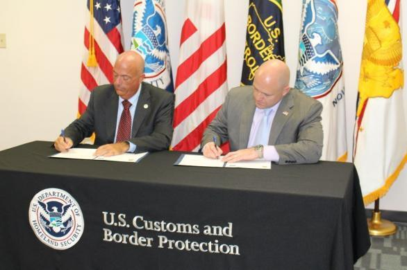 CBP Atlanta Director of Field Operations Donald F. Yando and HSI Washington, D.C. Special Agent in Charge Patrick J. Lechleitner