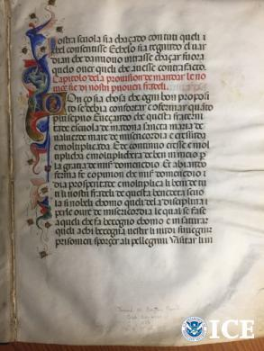 Mariegola Manuscript and the Illuminate Page