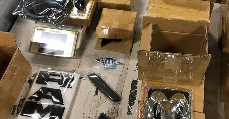 ICE HSI San Francisco intercepted counterfeit products attempting to penetrate the Bay Area consumer market