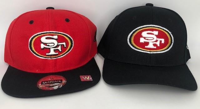 Images of counterfeit merchandise seized during the National Football Conference Championship game in Santa Clara, California, Jan. 19, 2020