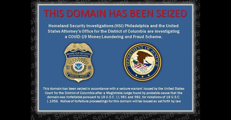 Dominio fraudulento del COVID-19 decomisado de vendedor que intentó venderlo utilizando Bitcoin