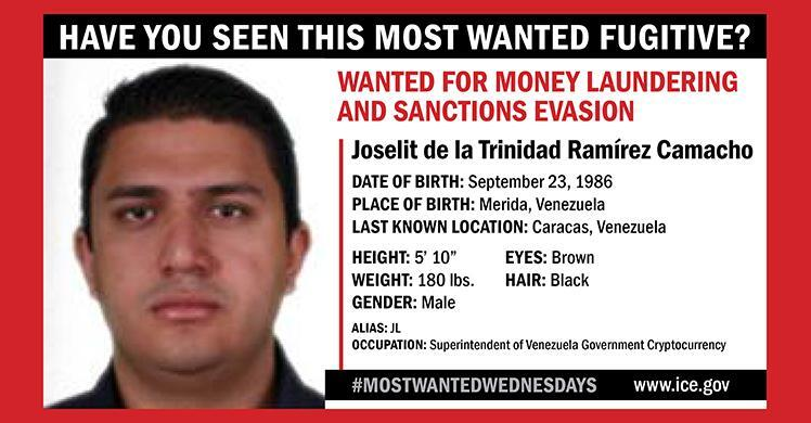 HSI adds Venezuelan official to Most Wanted list, $5M reward offered for information leading to his arrest, conviction