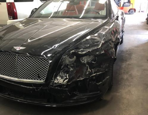 Bentley that was taken from a victim (using false promises) and then recovered after it had been damaged