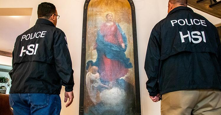 ICE recovers 19th century painting stolen from Italian monastery