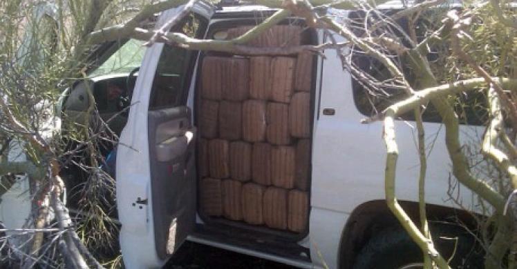 Truck with marijuana