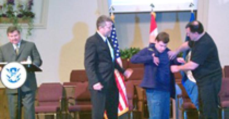 ICE, North Dakota federal law enforcement agencies award special-needs man with honorary 'Special Agent' title
