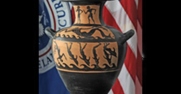 rare Etruscan black-figure kalpis