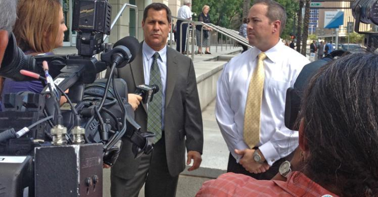 HSI Tampa leadership speaks with the media after church puppeteer is sentenced on child pornography charges.